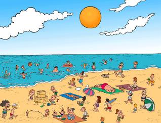 El perímetre, l'àrea i el volum en un dia de platja